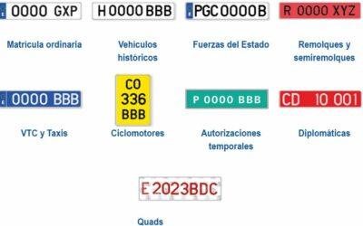 Tipos y colores de las matrículas: la DGT explica todos los significados